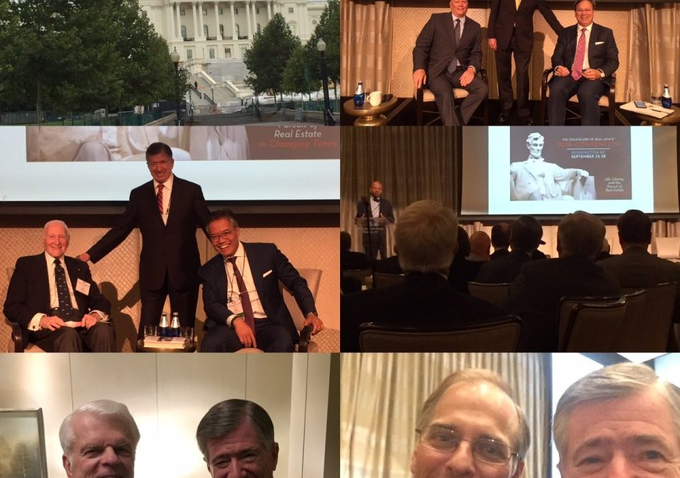 A Collection of Key Takeaways – The Counselors of Real Estate 2016 Convention – Washington DC